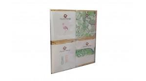 Pochette transparente thème Tropical