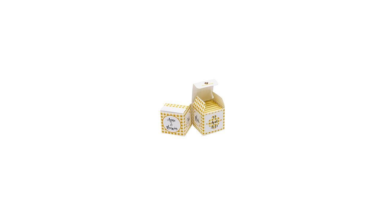 Double Cube bicolore vichy