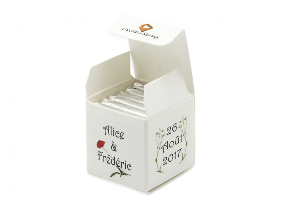 Cube simple thème Fleurs