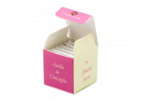 Cube simple bicolore Damier