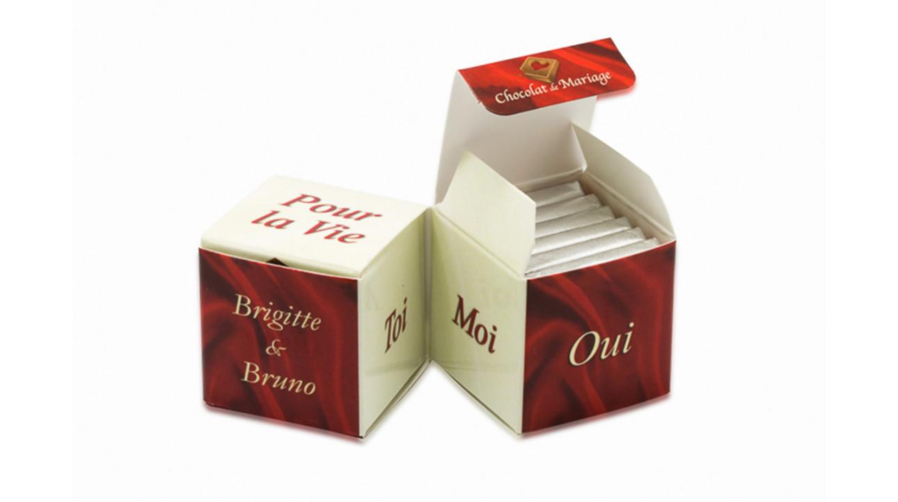 Doubles Cubes - Thème ivoire & bordeaux