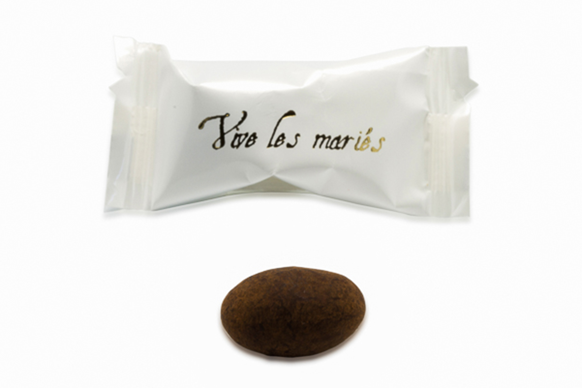 Amandes vives les mariés de Chocolat de Mariage