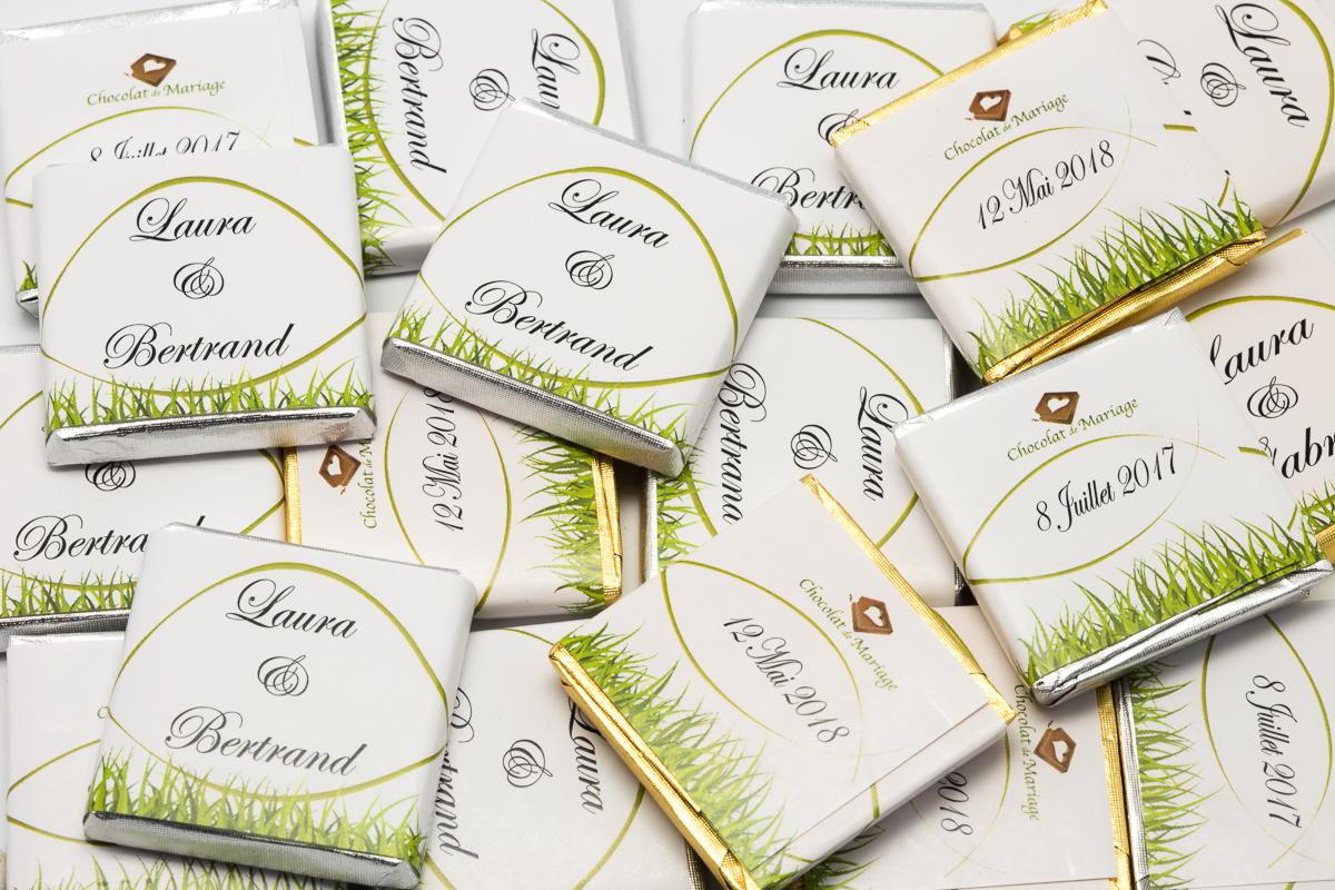chocolats personnalisés en vrac thème Champetre