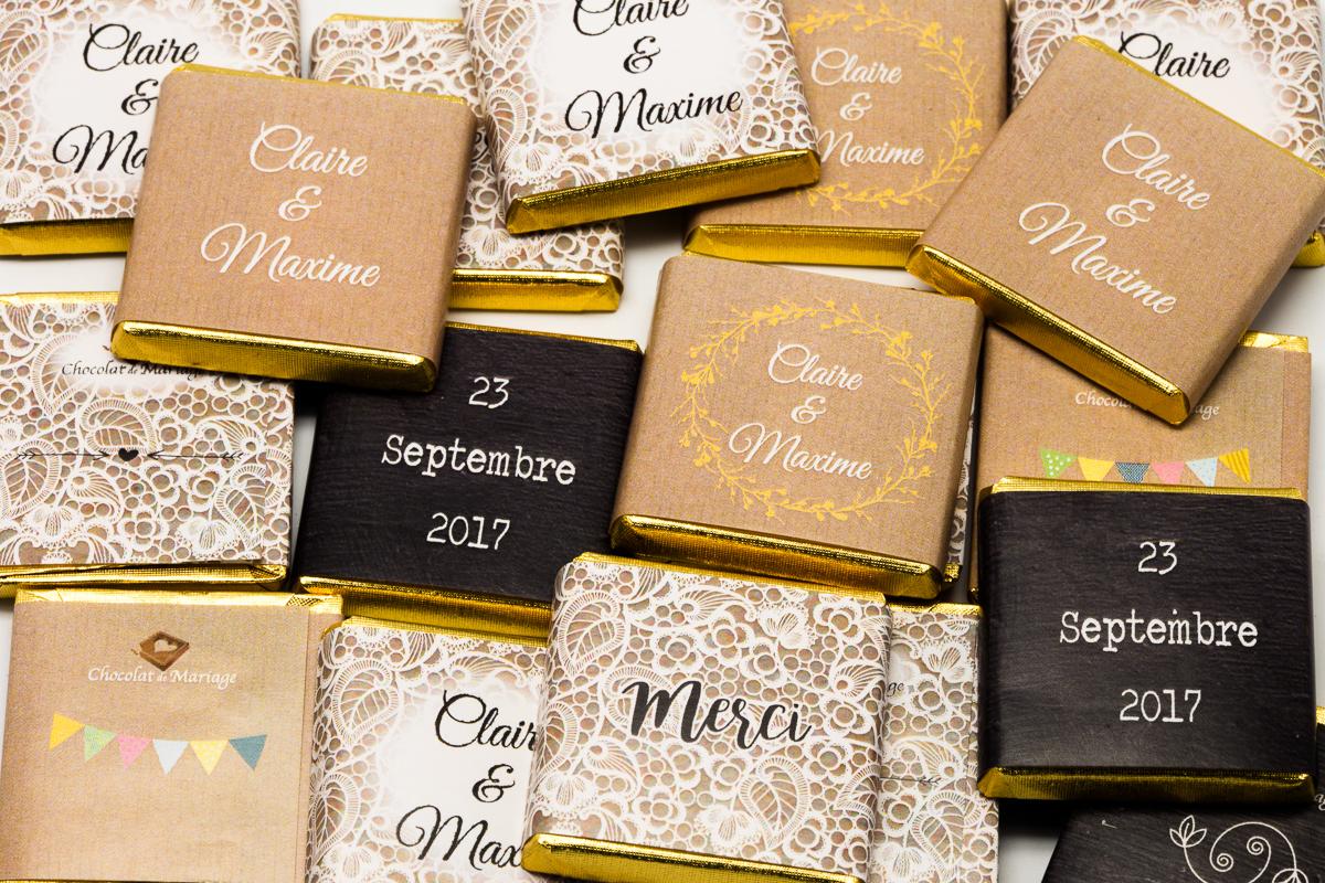 chocolats personnalisés en vrac thème dentelle chic