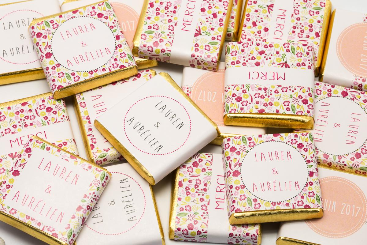 chocolats personnalisés thème Liberty