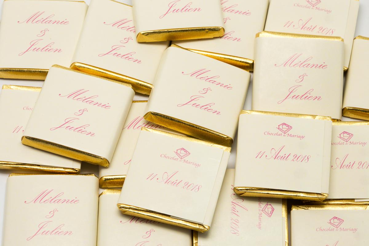 chocolats personnalisés en vrac bicolore liserés