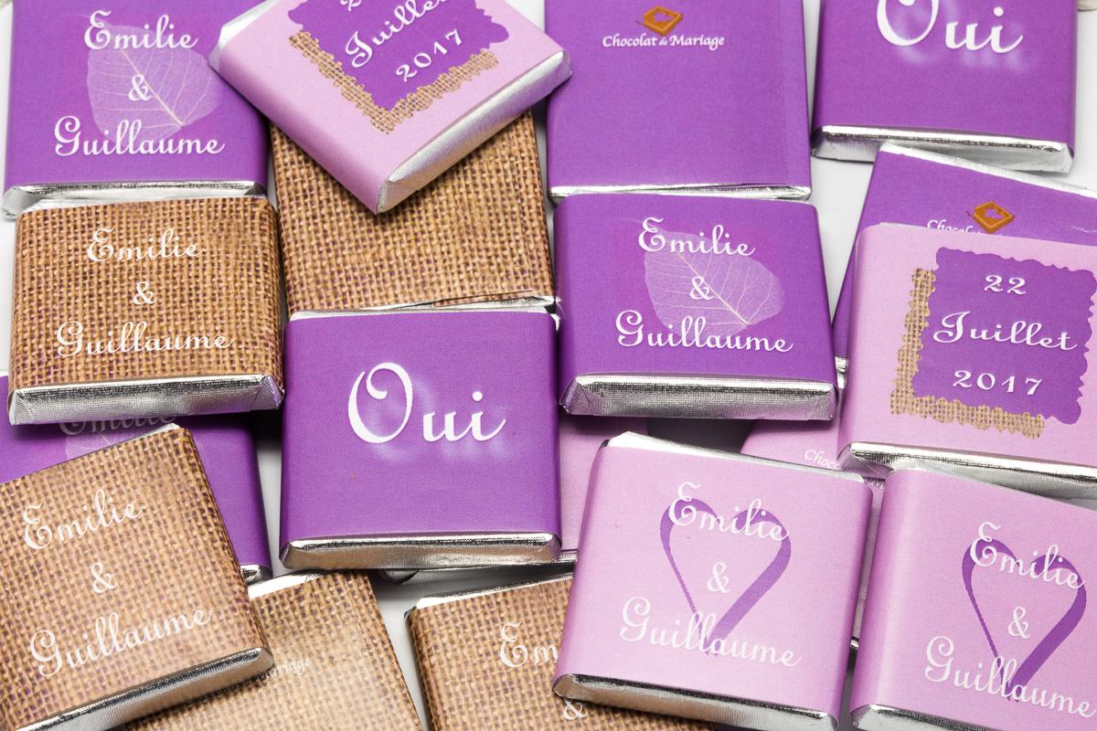 chocolats personnalisés en vrac thème ultraviolet