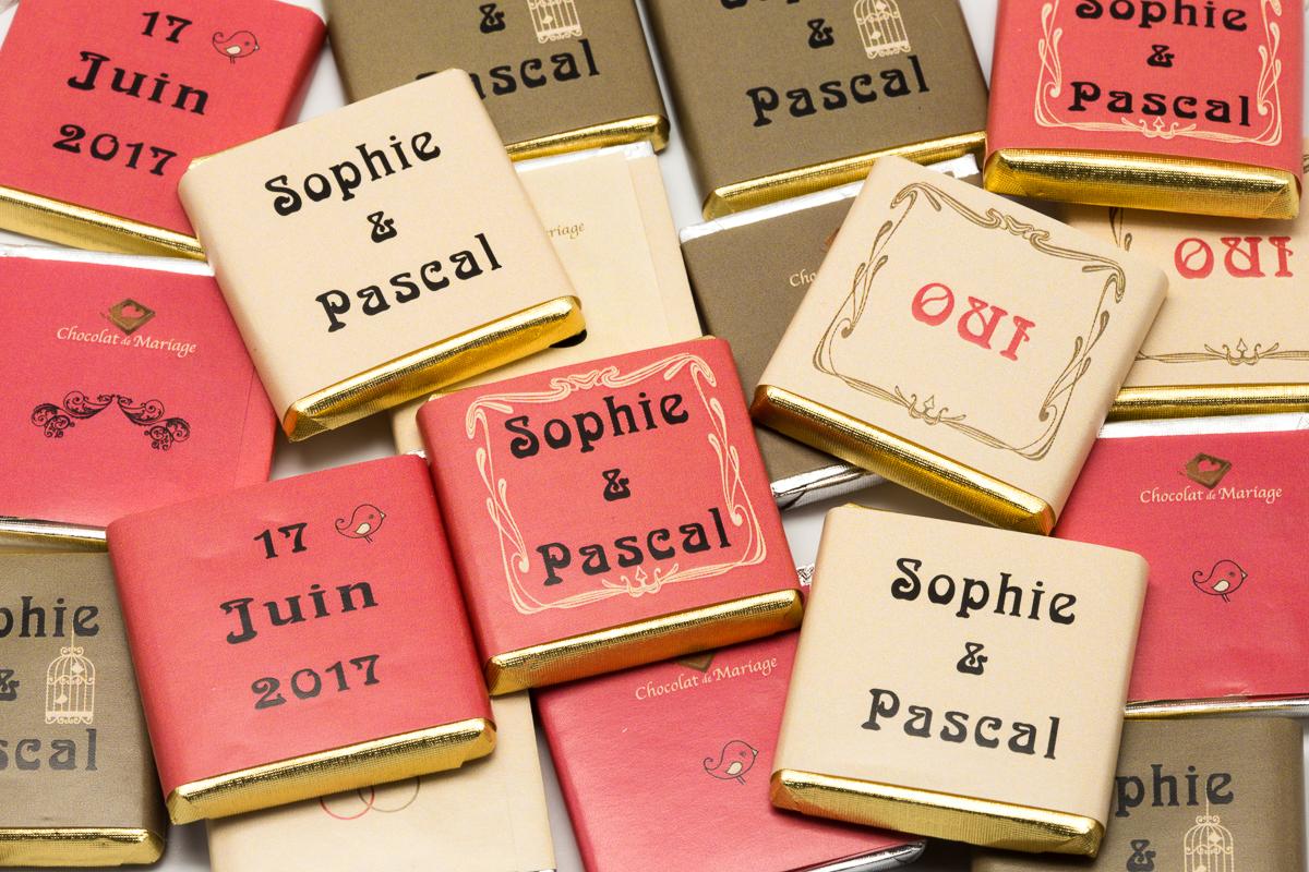 chocolats personnalisés en vrac sur le thème vintage